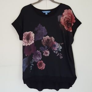 Simply Vera Vera Wang Tops - Vera Wang black floral print top